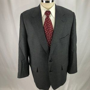 Brooks Brothers Men's Gray Wool Plaid Blazer 46R